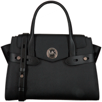 Zwarte MICHAEL KORS Handtas LG FLAP BELTED SATCHEL  - medium
