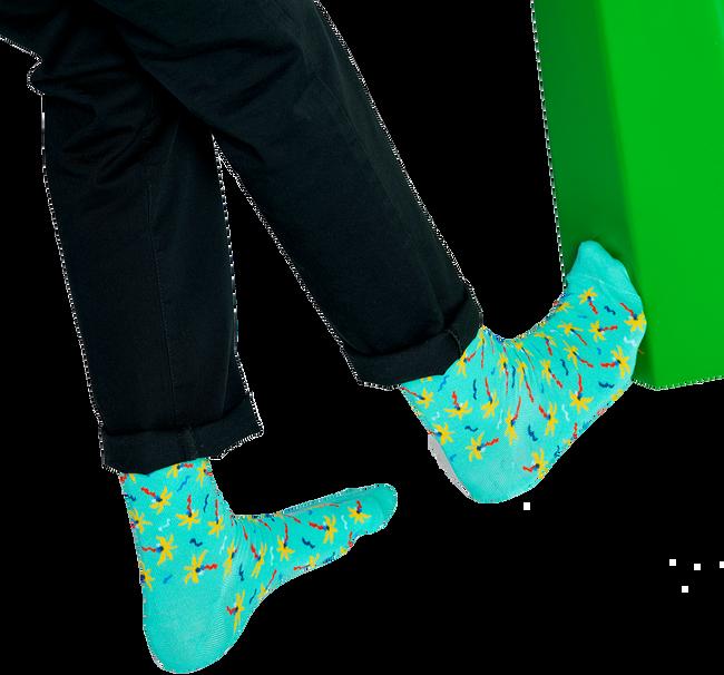 Blauwe HAPPY SOCKS Sokken CONFETTI PALM  - large