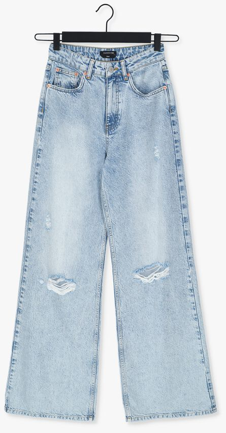 Blauwe COLOURFUL REBEL Straight leg jeans GAYIA DESTROYED HIGH RISE JEAN - larger