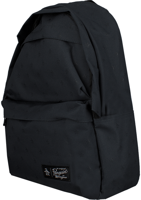 Zwarte ORIGINAL PENGUIN Rugtas CHATHAM AOP PETE BACKPACK - large