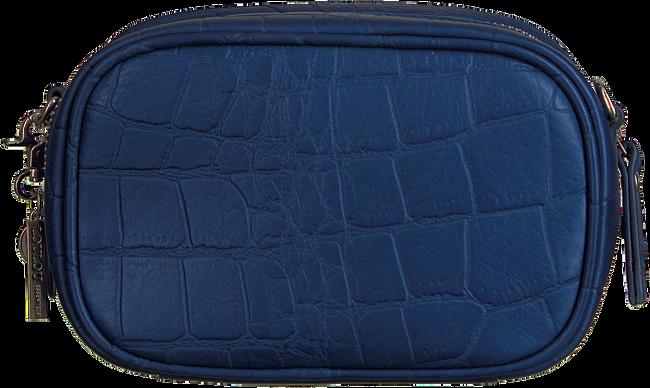 Blauwe LOULOU ESSENTIELS Schoudertas SHINY CROCO - large