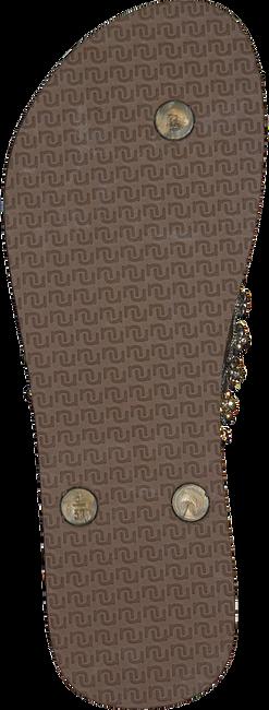 taupe UZURII Slippers FLOWER POWER  - large