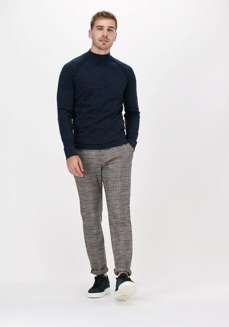 Donkerblauwe CAST IRON Trui MOCK NECK SLIM FIT COTTON HEAT - large