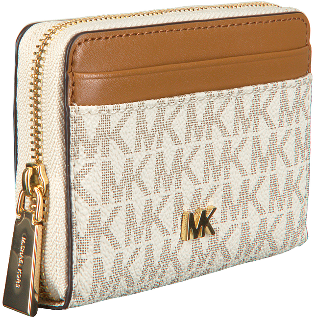 Witte MICHAEL KORS Portemonnee MONEY PIECES ZA COIN CARD CASE  - large