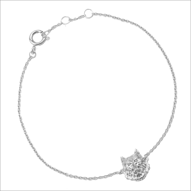 Zilveren ALLTHELUCKINTHEWORLD Armband SOUVENIR BRACELET WOLF - large