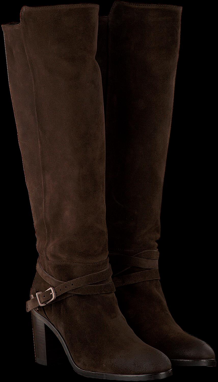 Bruine FRED DE LA BRETONIERE Lange laarzen 193010018 | Omoda
