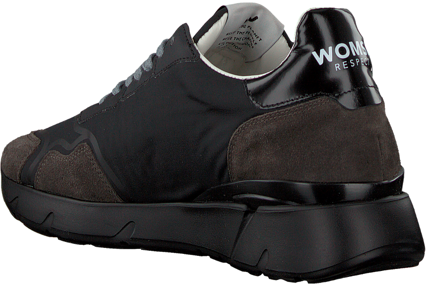 Zwarte WOMSH Lage sneakers RUNNY DAMES  - larger