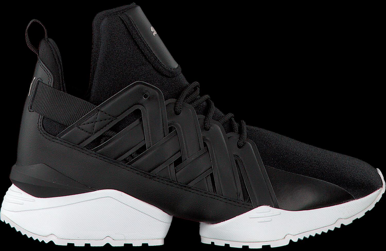 Zwarte PUMA Sneakers MUSE ECHO SATIN WMN | Omoda