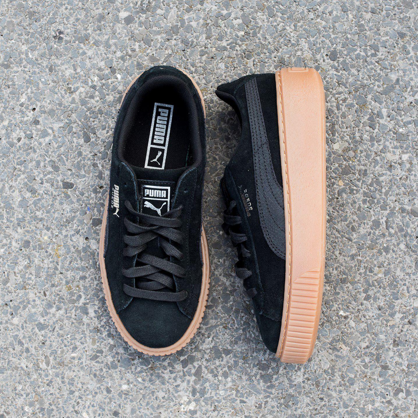 Zwarte PUMA Sneakers SUEDE PLATFORM ANIMAL   Omoda