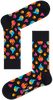Zwarte HAPPY SOCKS Sokken FLAMES SOCK  - small