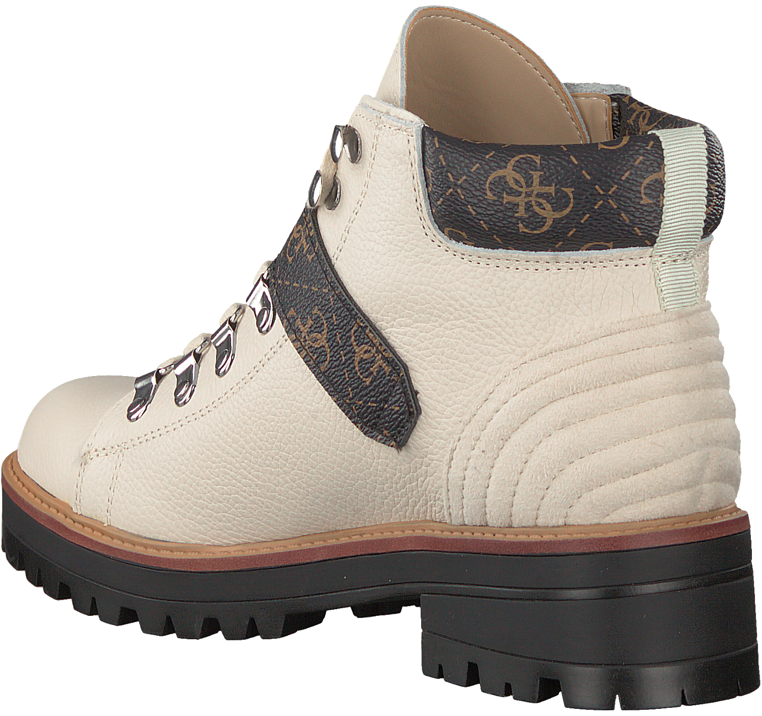 Witte GUESS Veterboots IRVIN Omoda.nl
