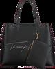 Zwarte TOMMY HILFIGER Shopper ICONIC TOTE SIGNATURE  - small
