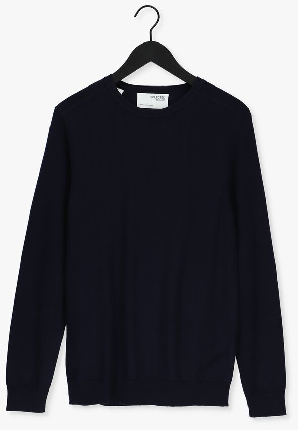 Donkerblauwe SELECTED HOMME Trui BERG CREW NECK - larger