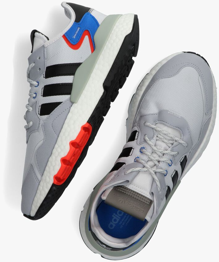 Grijze ADIDAS Lage sneakers NITE JOGGER  - larger