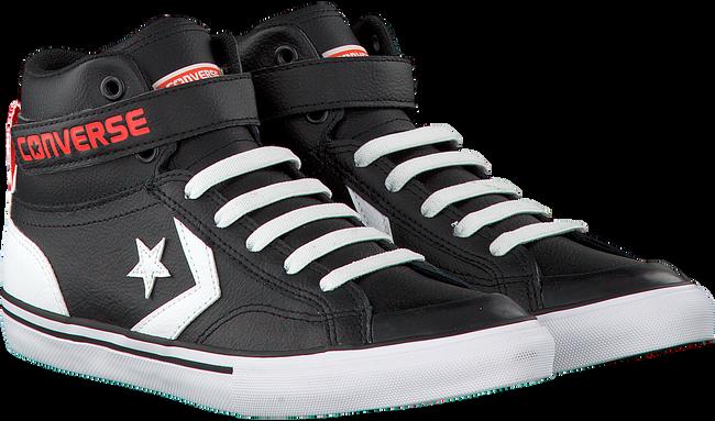 zwarte converse sneakers pro blaze strap hi kids
