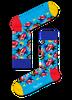 Blauwe HAPPY SOCKS Sokken ROLLING STONES - small
