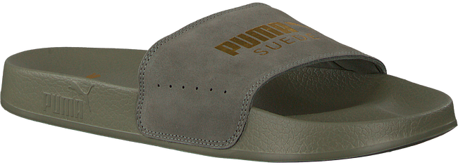Groene PUMA Slippers LEADCAT SUEDE MEN - large
