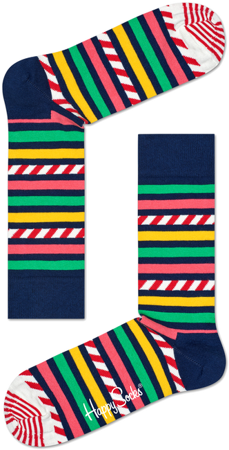Multi HAPPY SOCKS Sokken STRIPE & STRIPE SOCK - large