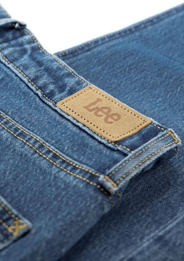 Lichtblauwe LEE Mom jeans CAROL (REGULAR STRAIGHT CROPPE  - larger