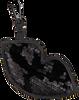 Zwarte KENDALL & KYLIE Sleutelhanger LUSH SEQUINS - small