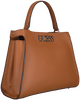 Cognac GUESS Handtas UPTOWN CHIC TURNLOCK SATCHEL  - small