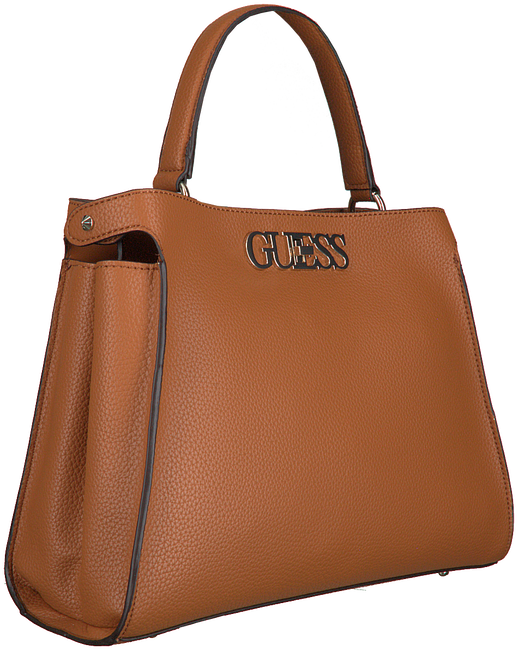 Cognac GUESS Handtas UPTOWN CHIC TURNLOCK SATCHEL  - large