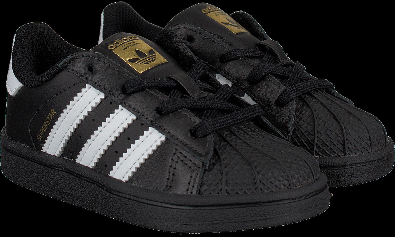 Zwarte Adidas Sneakers SUPERSTAR KIDS 1