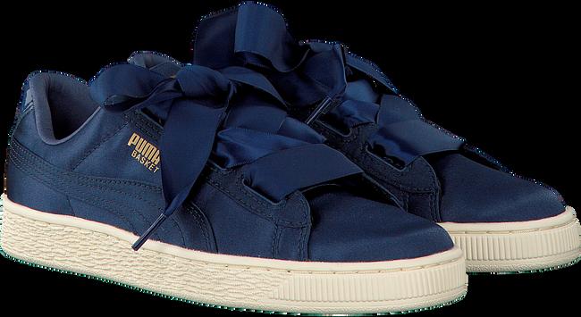 Blauwe PUMA Sneakers BASKET HEART TWEEN JR  - large