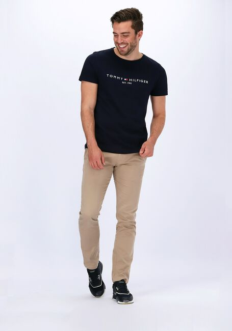 Blauwe TOMMY HILFIGER T-shirt CORE TOMMY LOGO TEE  - large