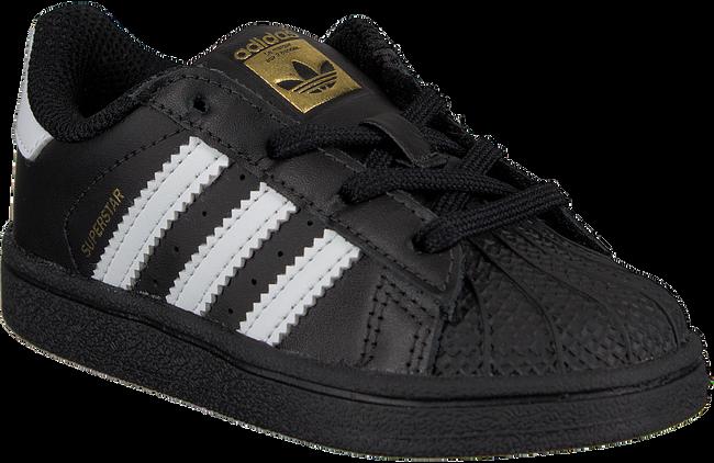 Zwarte ADIDAS Sneakers SUPERSTAR KIDS 1  - large