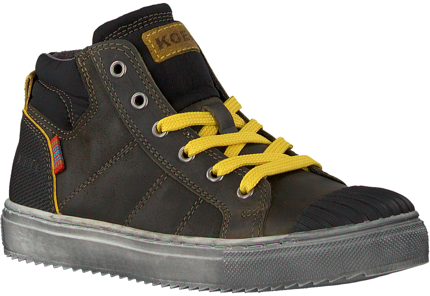 Groene KOEL4KIDS Hoge sneaker KO896-AL-03  - larger