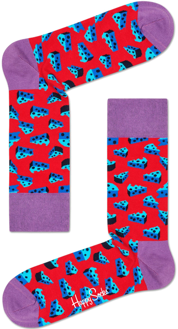 Rode HAPPY SOCKS Sokken CHEESE - large