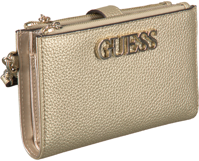 Gouden GUESS Portemonnee UPTOWN CHIC SLG DBL ZIP - large