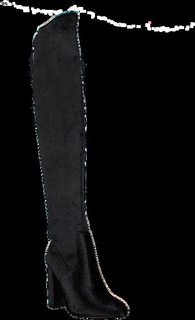Zwarte NIKKIE Overknee laarzen VELVET OVERKNEE BOOTS  - large
