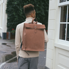 Cognac LAAUW Rugtas BACKPACK NINE STREETS  - small