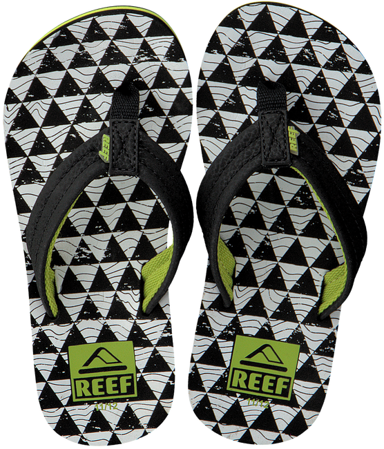 Zwarte REEF Slippers R2345  - large