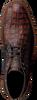 Cognac FLORIS VAN BOMMEL Veterschoenen 20228  - small