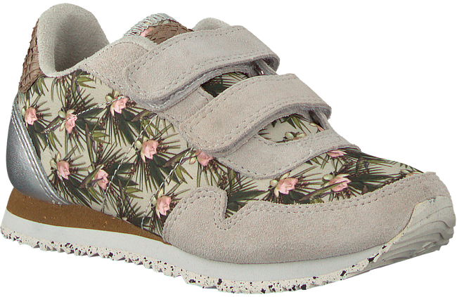 Grijze WODEN WONDER Sneakers NORA FLOWER KIDS - large