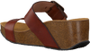 Cognac RED-RAG Slippers 78074  - small