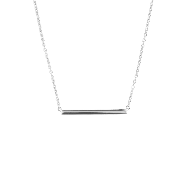 Zilveren ALLTHELUCKINTHEWORLD Ketting SOUVENIR NECKLACE BAR - large