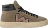 Taupe WOMSH Hoge sneaker BASK - small