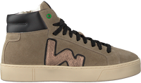 Taupe WOMSH Hoge sneaker BASK - medium