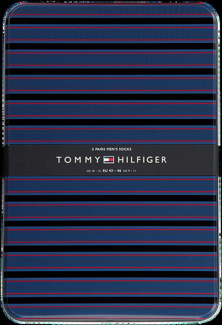 Blauwe TOMMY HILFIGER Sokken TH MEN SOCK 5P FINE STRIPE TIN  - large