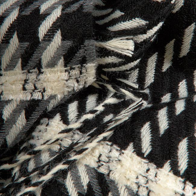 Zwarte TEATRO Sjaal PUNCHY  - large