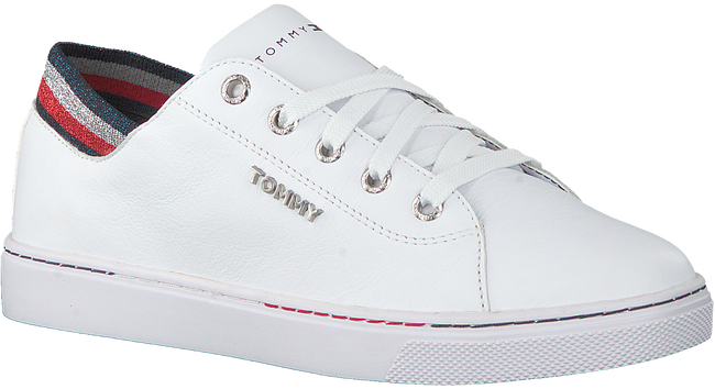 Witte TOMMY HILFIGER Lage sneakers GLITTER DETAIL CITY  - large