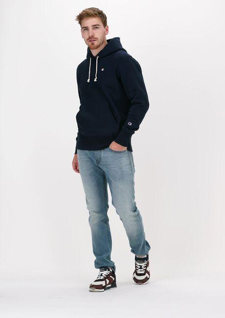Donkerblauwe CHAMPION Sweater REVERSE WEAVE HOODIE - large