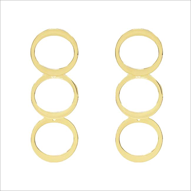Gouden MY JEWELLERY Oorbellen CIRCLES EARRINGS  - large