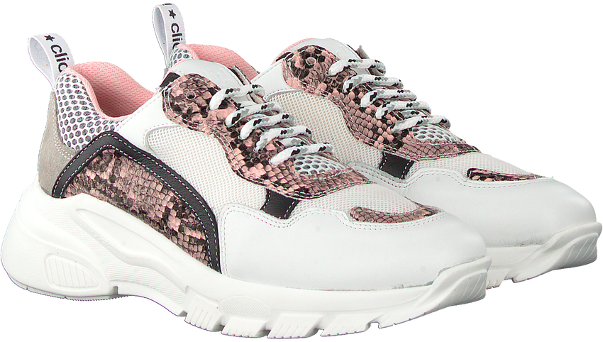Roze CLIC! Lage sneakers CL-20115  - larger