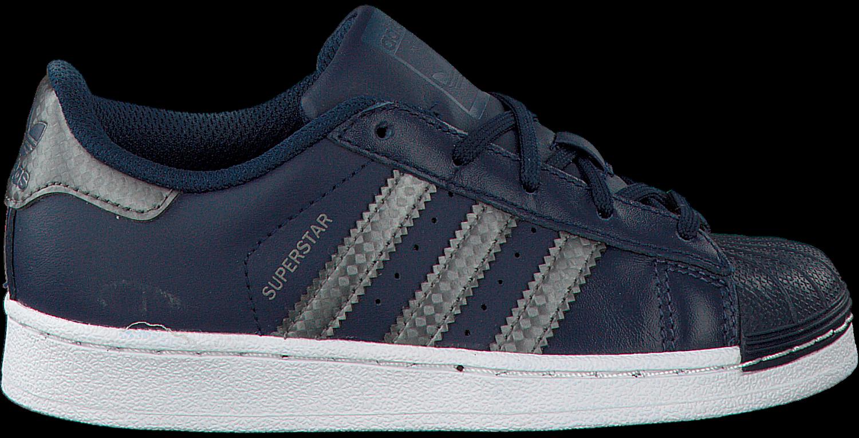 adidas superstar lage sneakers blauw