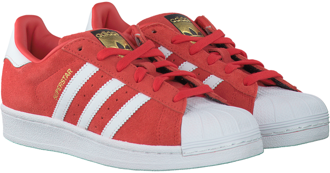 Rode ADIDAS Sneakers SUPERSTAR DAMES  - large